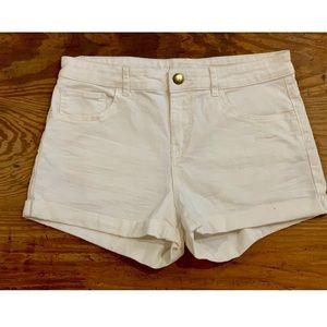 Pure White Shorts